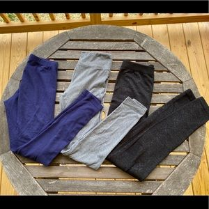 3 pack bundle leggings gray navy black